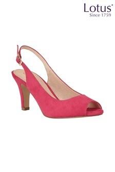 Lotus Footwear Microfibre Sling-back Shoes