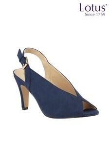 Lotus Footwear Microfibre Sling-Back Peep-Toe Shoes