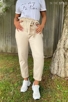 In The Style Paperbag Waist Jeans