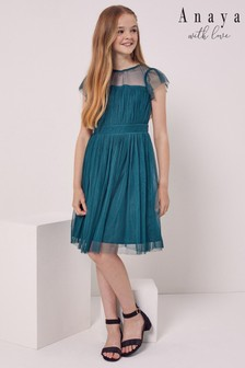 Anaya With Love Flutter sleeve Tulle Dress