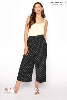 Long Tall Sally Diamond Printed Crop Trouser