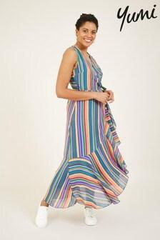 Yumi Rainbow Stripe Giovanna Maxi Dress