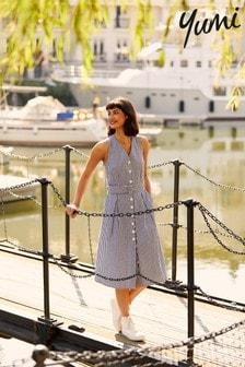 Yumi Gingham Quinn Summer Dress