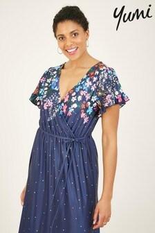 Yumi Floral Spotted Izabella Maxi Dress