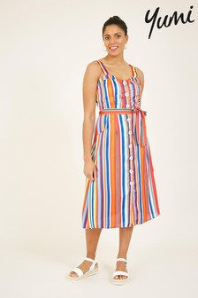 Yumi Rainbow Stripe April Summer Dress