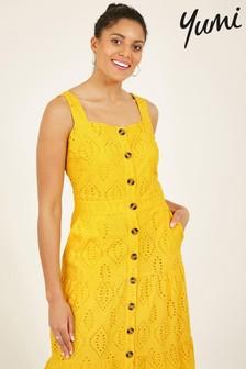 Yumi Cotton Button Up Cymone Broderie Dress