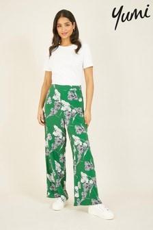 Yumi Floral Wide Leg Trousers