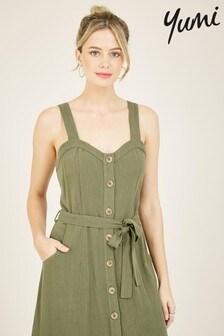 Yumi Button Up Liyana Midi Dress