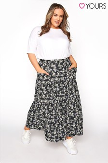 Yours Maxi Pocket Floral Skirt