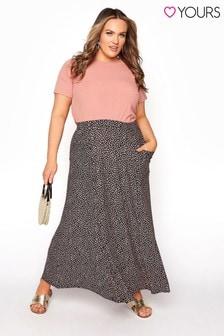 Yours Maxi Pocket Print Skirt