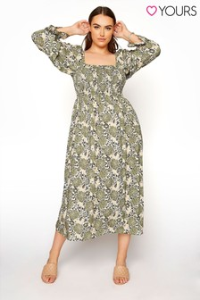 Yours Shirred Front Dress
