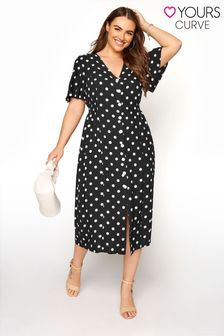 Yours Spot Button through dress