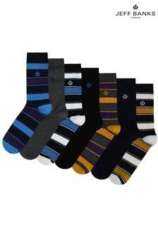 Jeff Banks Mens Fashion Socks Seven Pack