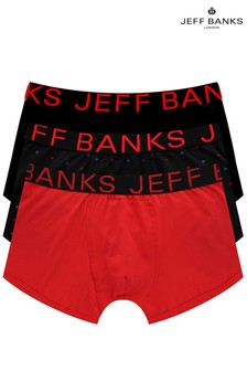 Jeff Banks Mens Fitted Trunks Three Pack