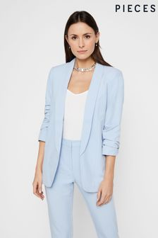 Pieces Relaxed Ruched Sleeve Blazer