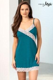 Pour Moi Sofa Loves Lace Secret Support Soft Jersey Chemise