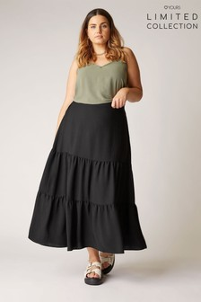 Yours Limited Tiered Skirt