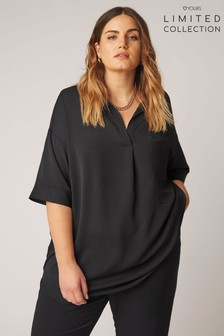 Yours Limited Pleat Front Top