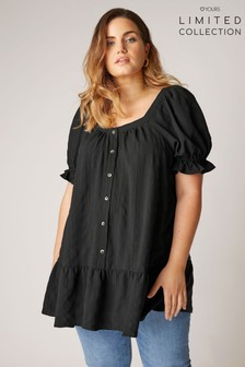 Yours Limited Puff Sleeve Swing Tunic
