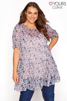 Yours Limited Tiered Floral Tunic