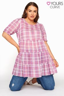 Yours Limited Tiered Check Tunic