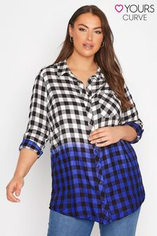 Yours Ombre Boyfriend Check Shirt