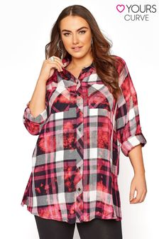 Yours Oversized Bleached Check Shirt