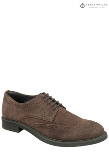 Frank Wright Mens Suede Brogue Shoes
