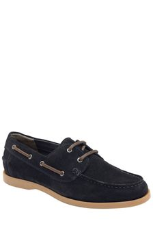 Frank Wright Mens Suede Boat Shoes