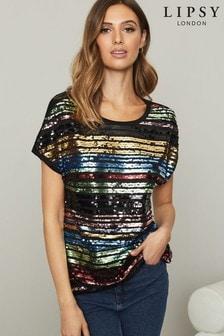 Lipsy Sequin T Shirt