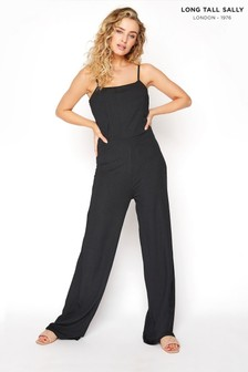 Long Tall Sally Ribbed Wide Leg Crop Jumpsuit