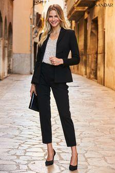 Sosandar Silky Detail Tuxedo Blazer