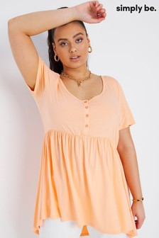 Simply Be Button Down Smock Top
