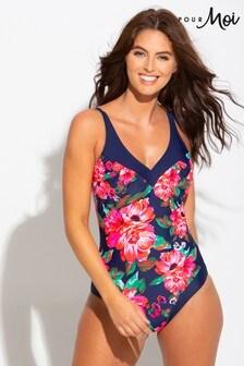 Pour Moi Floral Contour Control Swimsuit