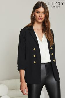 Lipsy Military Tailored Button Blazer