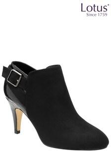 Lotus Footwear Zip-Up Heeled Shoe Boots