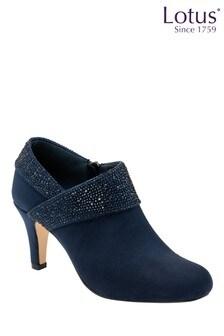 Lotus Footwear Diamante Heeled Shoe Boots