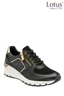 Lotus Footwear Leather & Croc-Print Casual Shoes