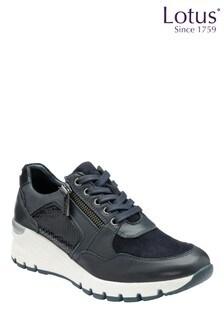 Lotus Footwear Leather & Snake-Print Casual Shoes