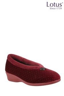Lotus Footwear Bordo Velour Full Slippers