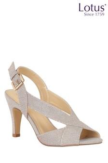 Lotus Footwear Pink Open-Toe Stiletto Sandals