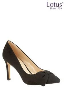 Lotus Footwear Black Stiletto Court Shoes