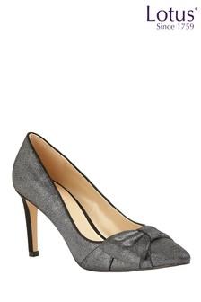 Lotus Footwear Pewter Stiletto Court Shoes