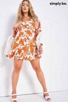 Simply Be Printed Skater Dress