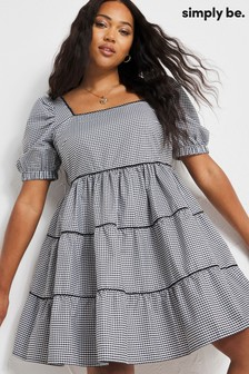 Simply Be Gingham Smock Dress