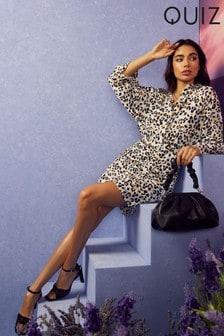 Quiz Leopard Print Shirt Dress