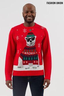 Fashion Union Mens Matching Family Christmas Jumper