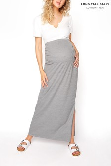 Long Tall Sally Ribbed Skirt With Split