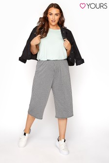 Yours Gingham Jaquard Culotte