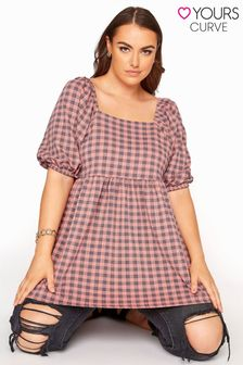 Yours Limited Square Neck Gingham Top